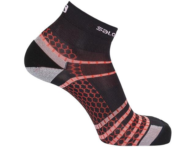 Salomon Nso Mid Run Socks, negro/rojo
